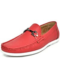 Amazon.com: Red - Loafers & Slip-Ons / Shoes: Clothing, Shoes ...