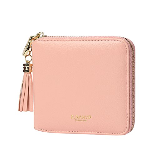 (ALALEI Women's Mini Wallet PU Leather Wallet Coin Card Holder Lady's Purse (Pink))