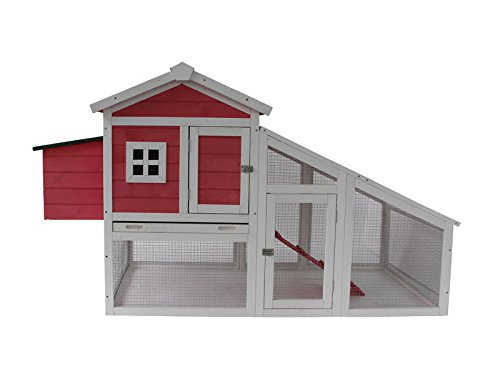 MCombo 0326P Deluxe Wooden Coop Backyard Nest Box/Pet Cage/Rabbit Hen Hutch, 70'', Pink by MCombo
