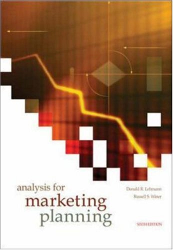 Analysis for Marketing Planning by McGraw-Hill/Irwin