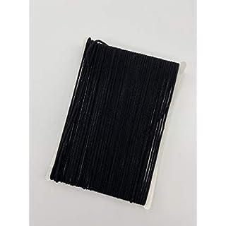 1/8 inch 20 Yard Elastic Cord for Masks, Black Elastic Rope Cord Stretch High Elasticity Knit Elastic Band for Sewing Crafts DIY Bedspread Cuff 20 Yard