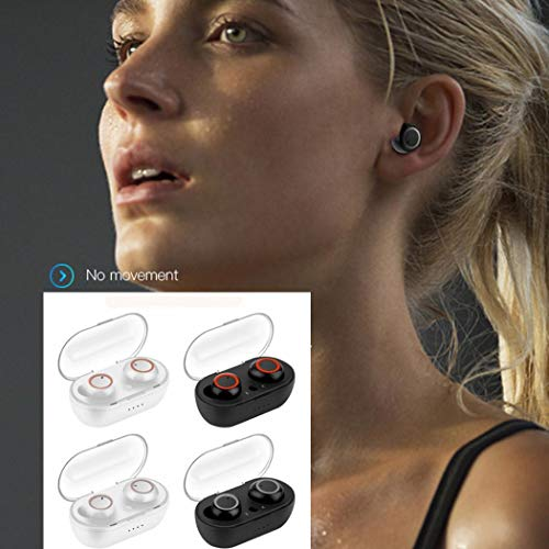 Idomeo Wireless Earbuds Bluetooth Passive Noise Reduction Dual Bluetooth Earphone Earbud Headphones