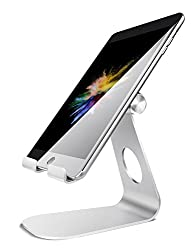 Tablet Stand Adjustable, Lamicall Tablet Stand : Desktop Stand Holder Dock Suitable to New iPad 2017 Pro 9.7, 10.5, Air Mini 2 3 4, Kindle, iPhone, Accessories, Tab, E-Reader (4-13 inch) - Silver