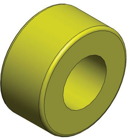 1/2 Nom. I.D., 5/8 Nom. O.D., 3/4 Lg., Bunting Bearings, SAE 841 Bronze - Oil Impregnated (1 Each)