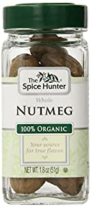 The Spice Hunter Nutmeg, Whole, Organic, 1.8-Ounce Jar