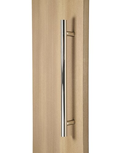 STRONGAR Modern & Contemporary Round Bar/Ladder/H-shape Style 914mm/36 inches Push-pull Stainless-steel Door Handle - Polished Chrome (Chrome Two Handle Pull)