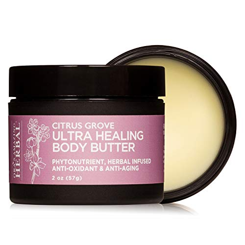 Ultra Healing Shea Body Butter and Intensive Moisturizer for Very Dry Skin, Coconut Free Lotion, Paraben Free Hand Cream, Oras Amazing Herbal Organic Shea Butter (Citrus Grove 2 oz)