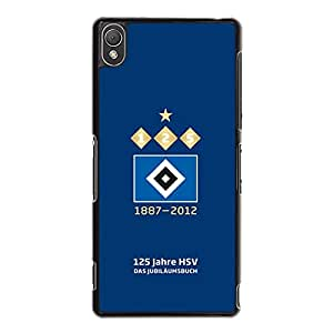 Sony Xperia Z3 Back Case Cover,Hamburger SV Logo Phone Case for Sony Xperia Z3 Popular Visual Hamburger Sportverein Mark Pattern Shell