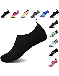 add79d7dec32 Mens Womens Water Shoes Barefoot Beach Pool Shoes Quick-Dry Aqua Yoga Socks  for Surf