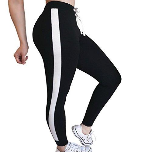 Sumen Women Ankle Legging Stretch Hipster Tights Slim Drawstring Jogger Pants for Dance Yoga (XL, Black) ()