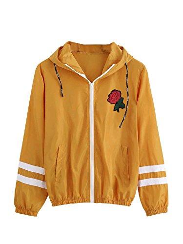 Yellow Windbreaker Jacket - 1