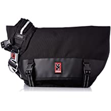 Chrome BG-001-BKBK Black One Size Mini Metro Messenger Bag Chrome Buckle