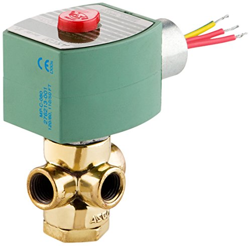 ASCO 8320G174-120/60,110/50 Brass Body Direct Acting General Service Solenoid Valve, 1/4