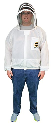 Mann Lake Provent Beekeeper Jacket with Self Supporting Veil, - 100 Provent