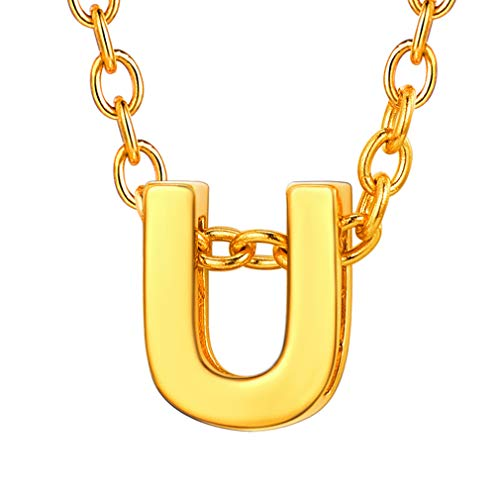 Custom4U Women's Letter Charm Chrome Finish Initial Letters Name Chain (Things That Begin With The Letter Z)