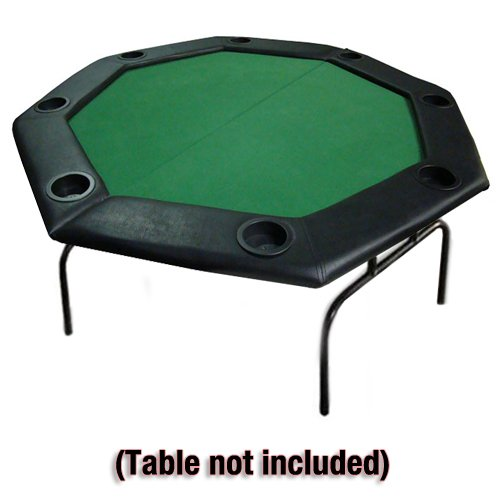 Top Table Cup Holders : ″ green folding octagon poker table top w cup holders