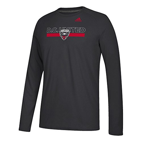 (adidas MLS D.C. United Adult Men 1949 Ultimate L/S Tee, Large,)