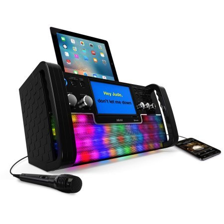 Akai KS780-BT Bluetooth CD+G Karaoke System with USB Playback/Recording, 7