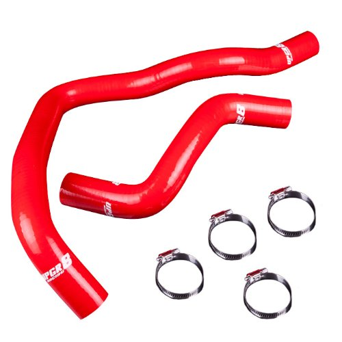 - Upgr8 Volvo 850 S70 V70 High Performance 4-ply Radiator Silicone Hose Kit (Red)
