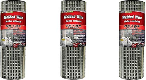 YARDGARD 309312A 24 inch by 25 Foot 16 Gauge 1 inch by 1 inch mesh Galvanized Welded Wire Pack of 3