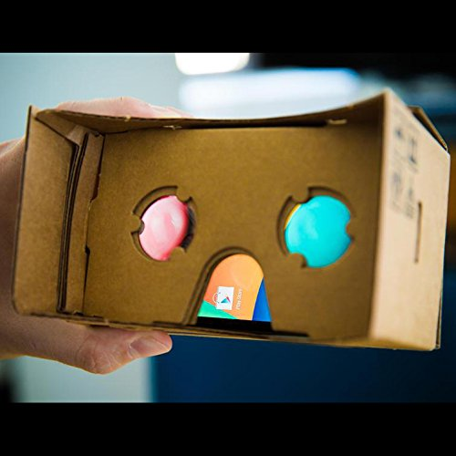 Virtual Reality Cardboard 3D Glasses DIY Tool Kit with NFC and Easy Setup