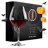 Red Wine Glasses - Lead Free Titanium Crystal Glass, 22 oz. Large Bowl, Long Stemmed Glassware - For Wine Tasting, Birthday, Anniversary or Wedding Gifts - Set of 3