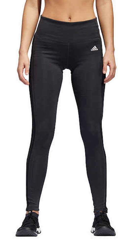 adidas Womens 3 Stripe Active Tights Carbon Small by adidas