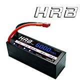 HRB 4S 6000mah 14.8V 50C High Capacity Lipo Battery Hardcase with Dean's T Plug for 1:8 Scale RC Car, Multi-Rotor RC Airplane, RC Helicopter, RC Boat