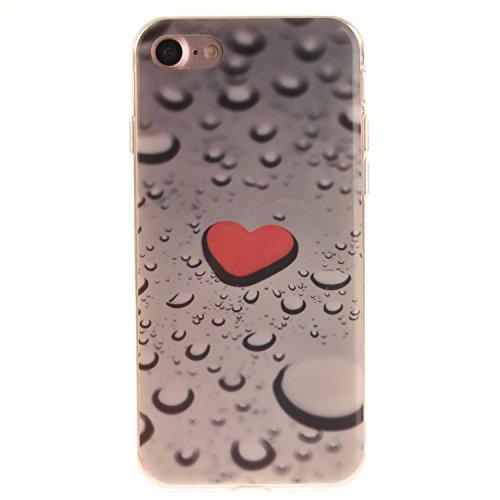 """Hülle iPhone 7 / iPhone 8 , LH Wassertropfen TPU Weich Muschel Tasche Schutzhülle Silikon Handyhülle Schale Cover Case Gehäuse für Apple iPhone 7 / iPhone 8 4.7"""""""