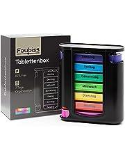 Foubiss Tablettenbox 7 dagen 4 vakken (zwart/kleurig)