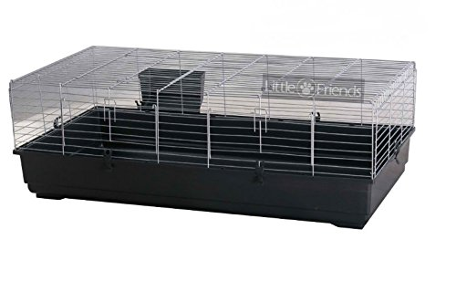 Little Friends Enormous Indoor Rodent Cage with Thicker Bars and Stronger Base Perfect Rabbit and Guinea Pigs