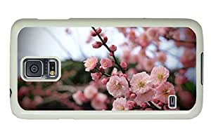 Hipster Cheap price Samsung Galaxy S5 Cases Apricot Blossom Buds PC White for Samsung S5