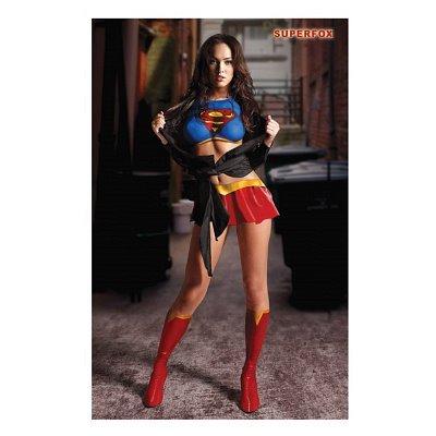 Movie Costumes Popular ((11x17) Megan Fox Superfox (Supergirl/Superman) Movie Poster)
