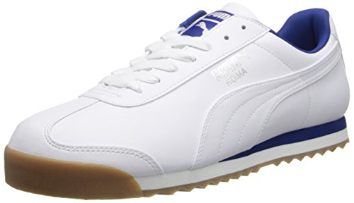 Puma Men S Roma Basic Fashion Sneaker White Gray Violet