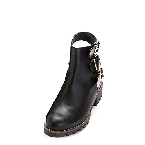 Womens boots Leather Ankle Miista 37 SZ Black Cecilia Shoes OqdTwwC