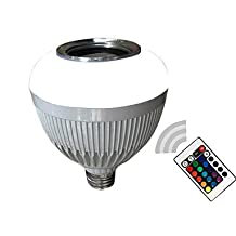 Modern LED Bulbs E27 Smart LED Bulb Light Dimmable 12W RGB RGBW Wireless Bluetooth Speaker Music Playing LED Lamp with Remote Control