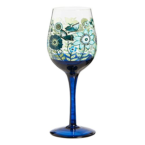 Shades of Indigo Wine Glass