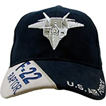 US Air Force 'F-22 Raptor' Ball Cap, Black, Blue, Adjustable