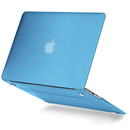 GMYLE(R) Hard Case Matte for 13 MacBook Air - Shakespeare Blue Rubberised (Rubber Coated) Hard Shell Clip Snap On Case Skin Cover (Pro Apple Case Laptop Mac Gmyle R)