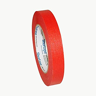 Shurtape CP-632 Colored Masking Tape: 3/4 in. x 60 yds. (Red)
