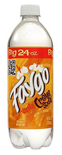 Faygo Vanilla Creme Soda, 24 oz (24 Bottles)