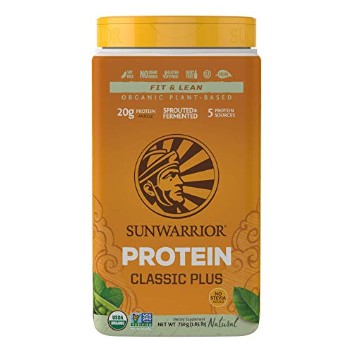 Sunwarrior - Classic Plus, Vegan Protein Powder with Peas & Brown Rice, Raw Organic Plant Based Protein (30, Natural) (Best Natural Vegan Protein Powder)