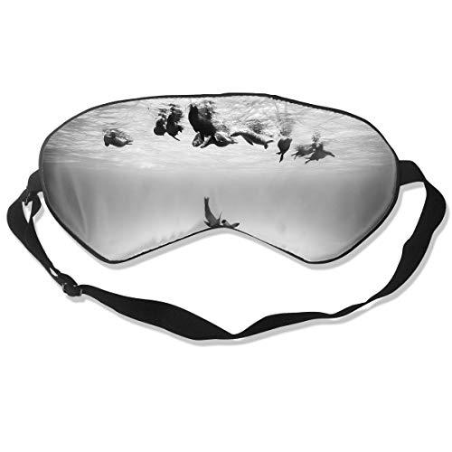 Oh-HiH 100% Silk Eye Mask Water Dolphin Tail Sleeping Blindfold Blocks Light Eye -
