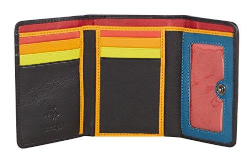 Donna Santorini Purse Tripla Di Multicolor Piegatura chloe A Visconti Da Pelle Portafoglio wqxCIP