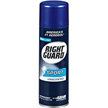 Right Guard Sport Anti-Perspirant Deodorant Spray Unscented 6 oz (Pack of 6)