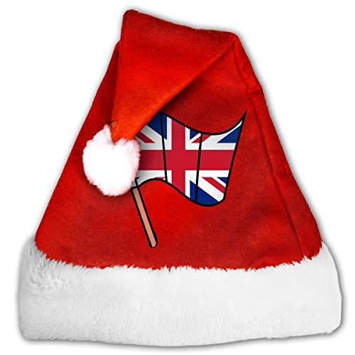 Lovely Christmas Snowflake Cap Flag of England Xmas Cap for Festival Celebration
