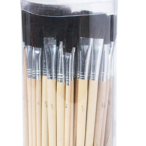 - S&S Worldwide Bristle Brush Assortment Pack, Black (Pack of 72)