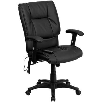 amazon com flash furniture high back massaging black leather