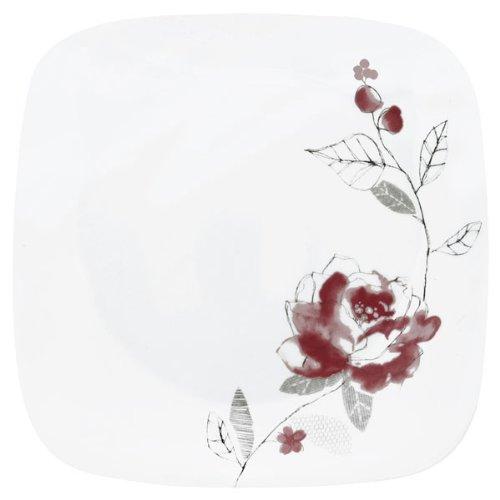 Corelle Square Blushing Rose 8.75'' Plate