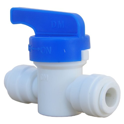Od Tube Shut Off Valve (LASCO 19-6501 Straight Shut Off Valve Push-In Fitting with 1/4-Inch OD Tubing, Plastic)